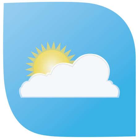 cloud: cloud and sun