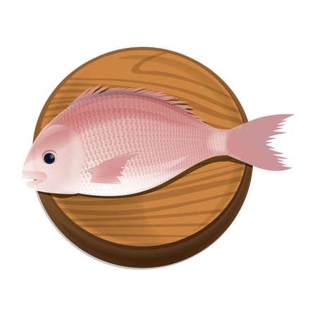 chopping: fish on chopping board