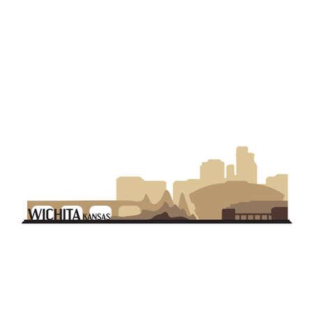 KANSAS: wichita kansas Illustration