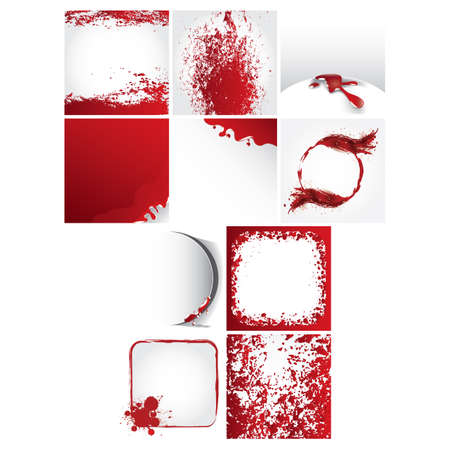 dribbling: set of abstract blood icons
