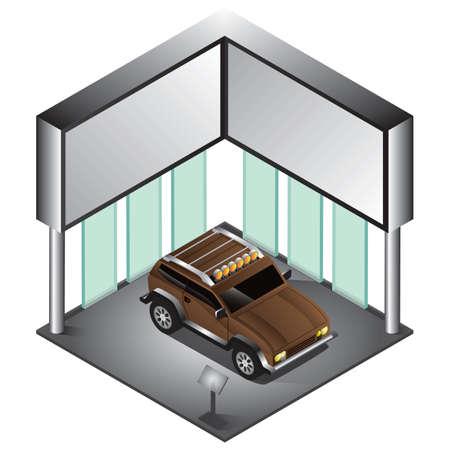 showrooms: car Illustration