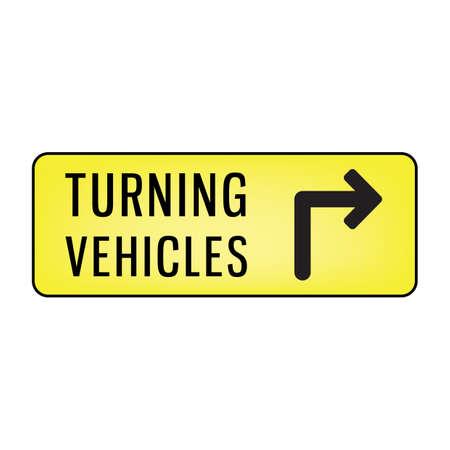 turning: vehicle turning right signboard