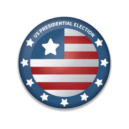 presidential: usa presidential election badge Illustration