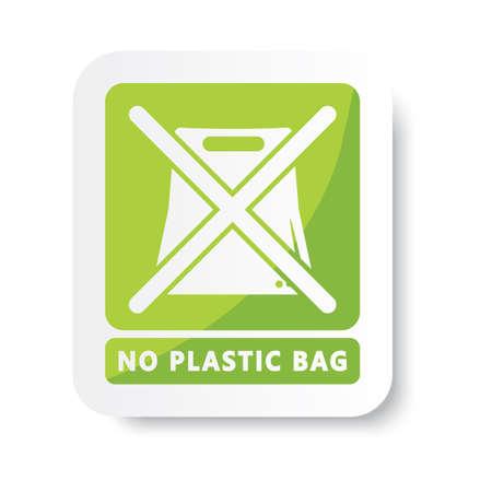 geen plastic zak