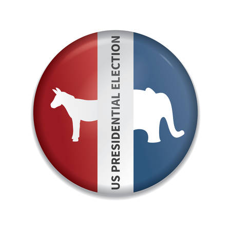 presidential: usa presidential election badge Illustration