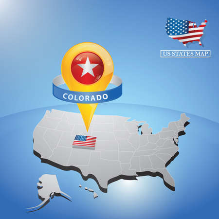 state of colorado: colorado state on map of usa