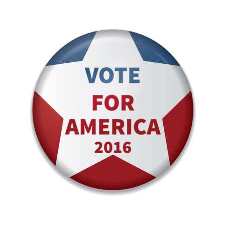 voto para america insignia Ilustración de vector