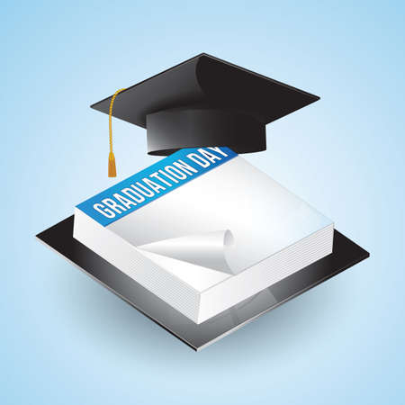 sticky notes: mortarboard and sticky notes