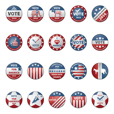 presidential: collection of usa election badges