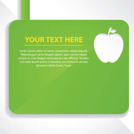 cut outs: apple design with text
