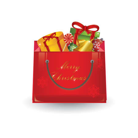 christmas gifts: christmas gifts bag Illustration