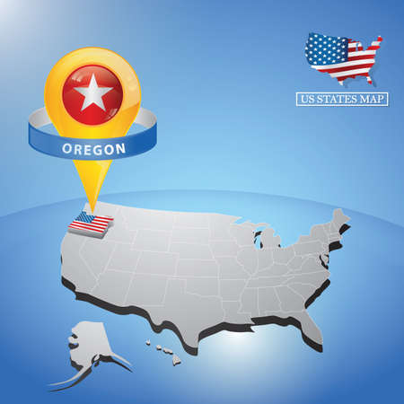 oregon: oregon state on map of usa