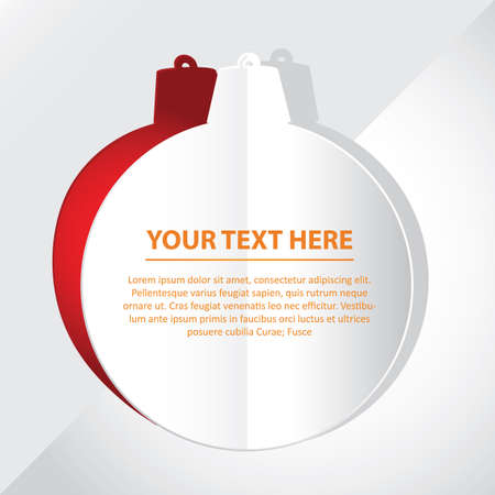 cut outs: bauble with text space Illustration