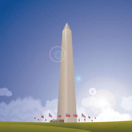 monument: the washington monument Illustration