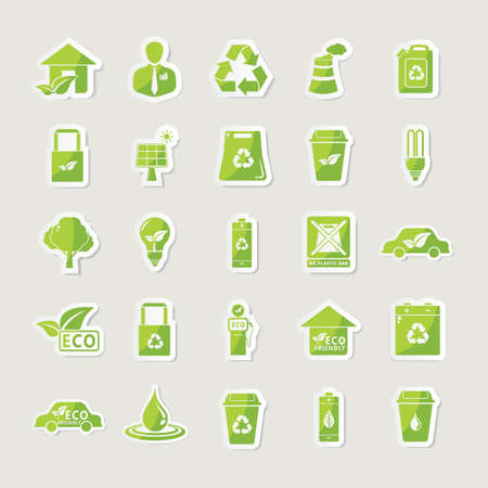 wastage: collection of eco icons