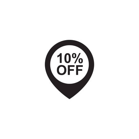 10: 10 percent off pin Illustration