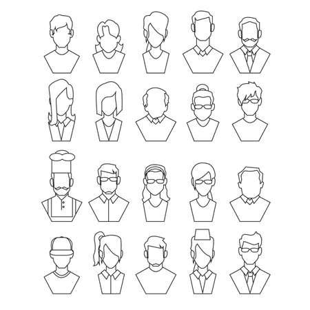 profesiones: personas con diferentes profesiones