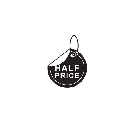 half price: half price tag