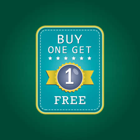 buy one: buy one get one free badge