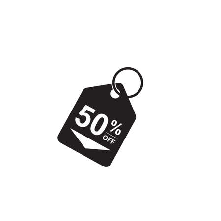 50: 50 percent off tag Illustration