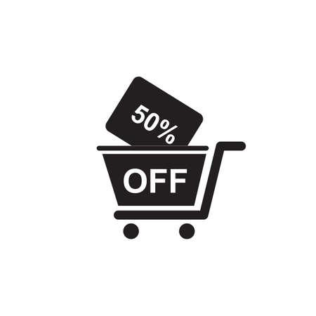 50 off: 50 percent off cart