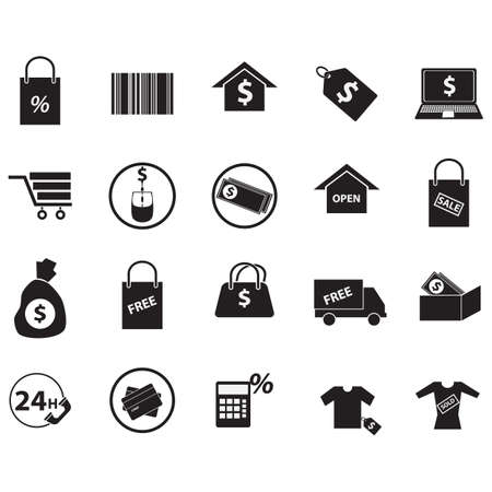 open shirt: set of shopping icons