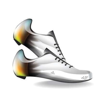 shoe laces: sports shoe Illustration