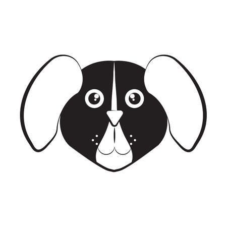 face to face: dog face Illustration