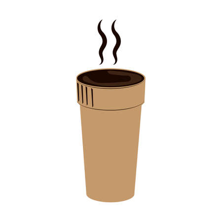 the hot: hot coffee flask Illustration