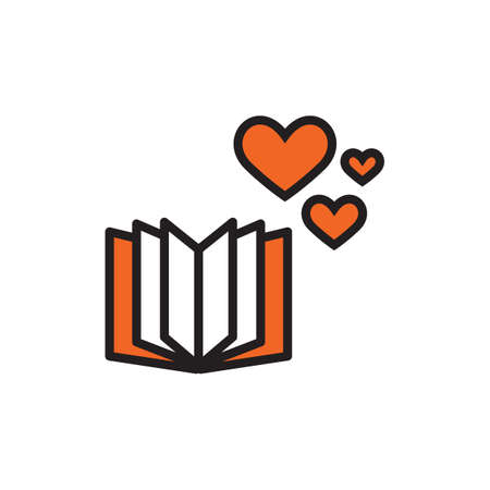 love icon: book icon with heart