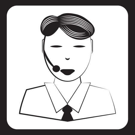 customer service representative: customer service representative Illustration