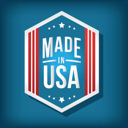 in: made in usa label Illustration