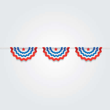 pennant bunting: usa bunting flags Illustration