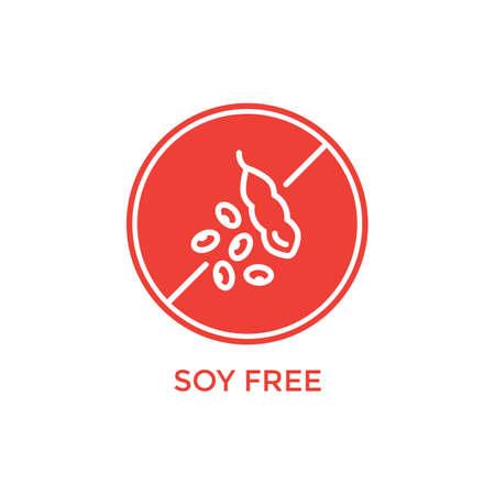 soy free: soy free label Illustration