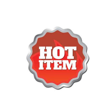 item: hot item label Illustration