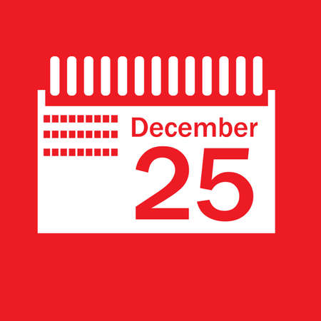 marked: calendar marked on christmas day Illustration