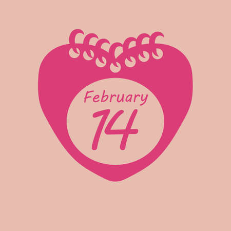 marked: calendar marked on valentines day