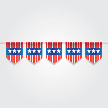 bunting flags: usa bunting flags Illustration