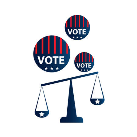 patriotic america: balance scale Illustration