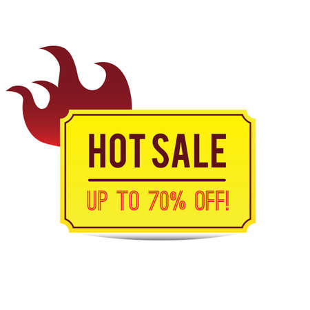 the hot: hot sale label