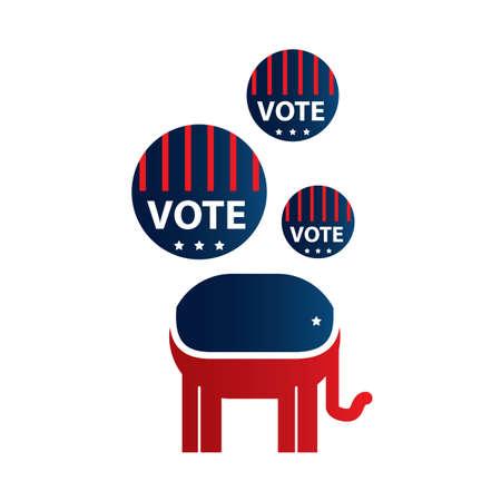 political party: political party symbol Illustration