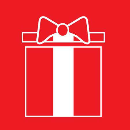 x   mas: gift box with ribbon
