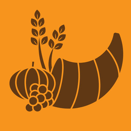 thanksgiving cornucopia: thanksgiving cornucopia with harvest fruits