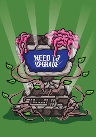 upgrade: need to upgrade computer Illustration