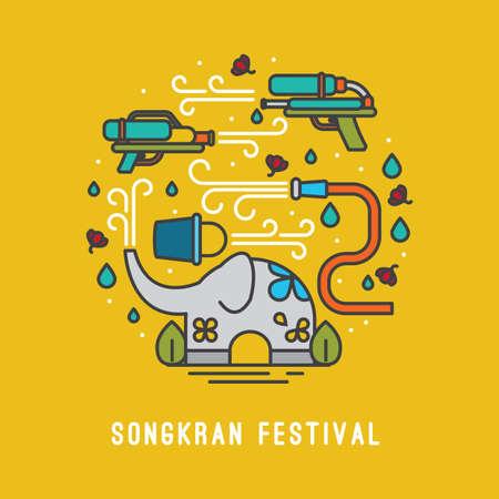 carta di Songkran Festival