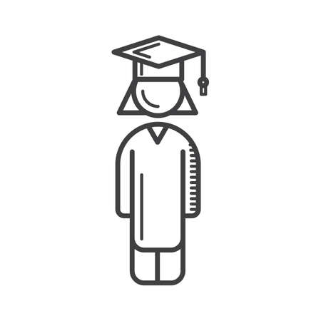 mortarboard: student with mortarboard