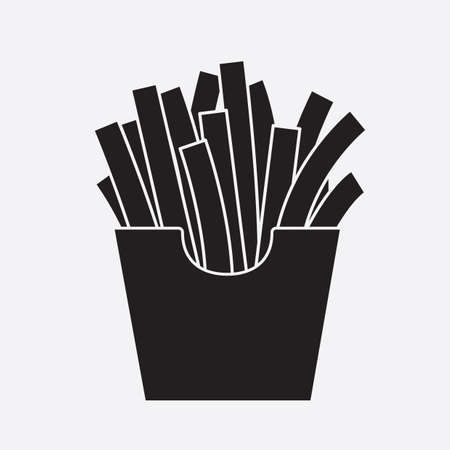 refreshment: french fries Illustration