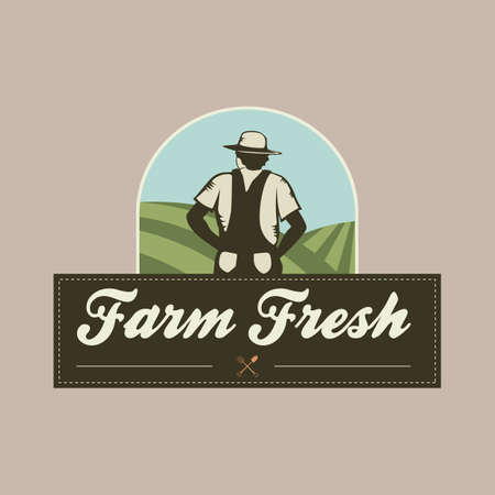 peasant: farm fresh banner Illustration