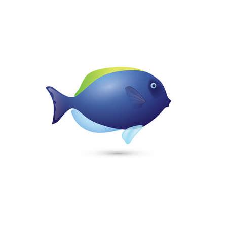 blue fish: blue fish Illustration