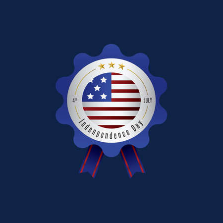 fourth of july: fourth july independence day badge Illustration